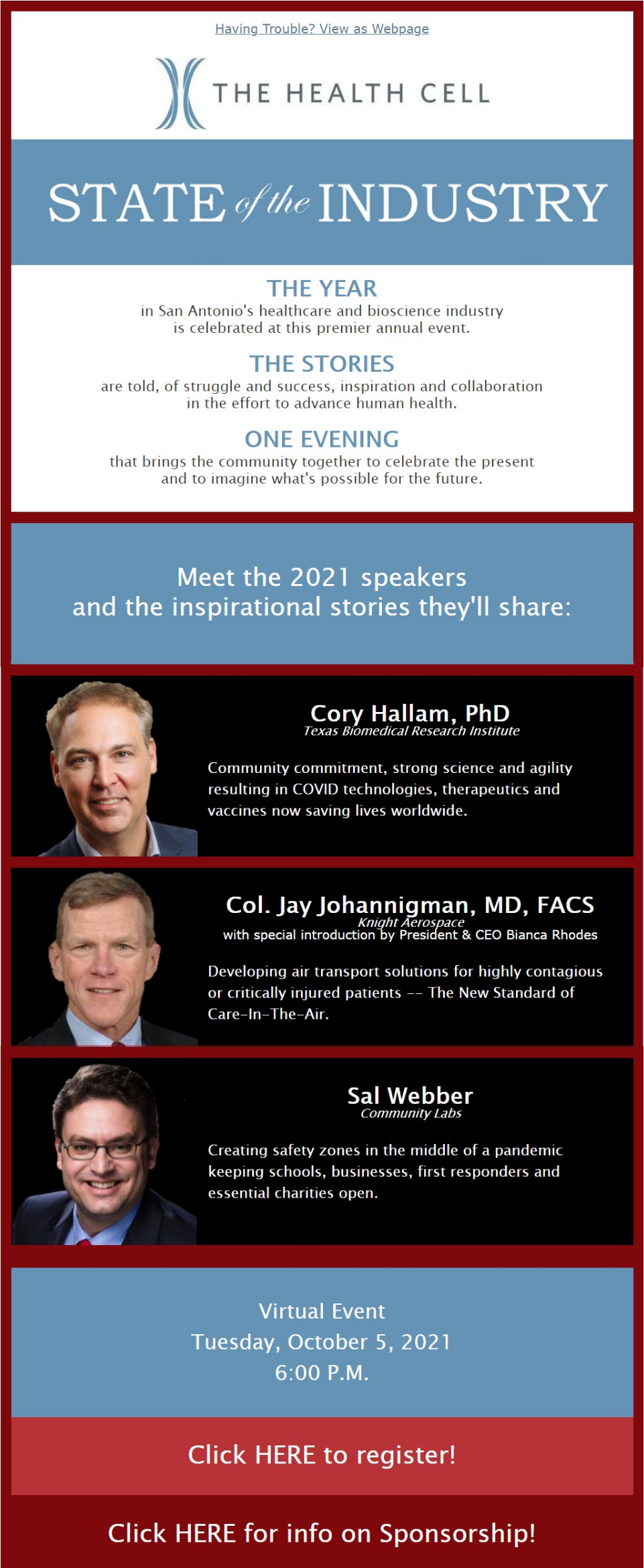 The Health Cell October 2021 Event